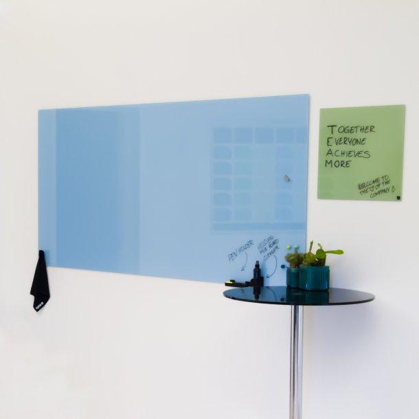 Folkekære Glastavle 200 x 100 cm. Lyseblå - Magnetiske glastavler store IV-03